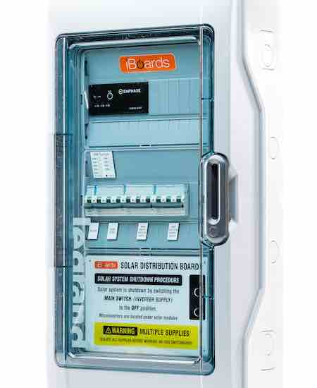 Outdoor solar distribution board
